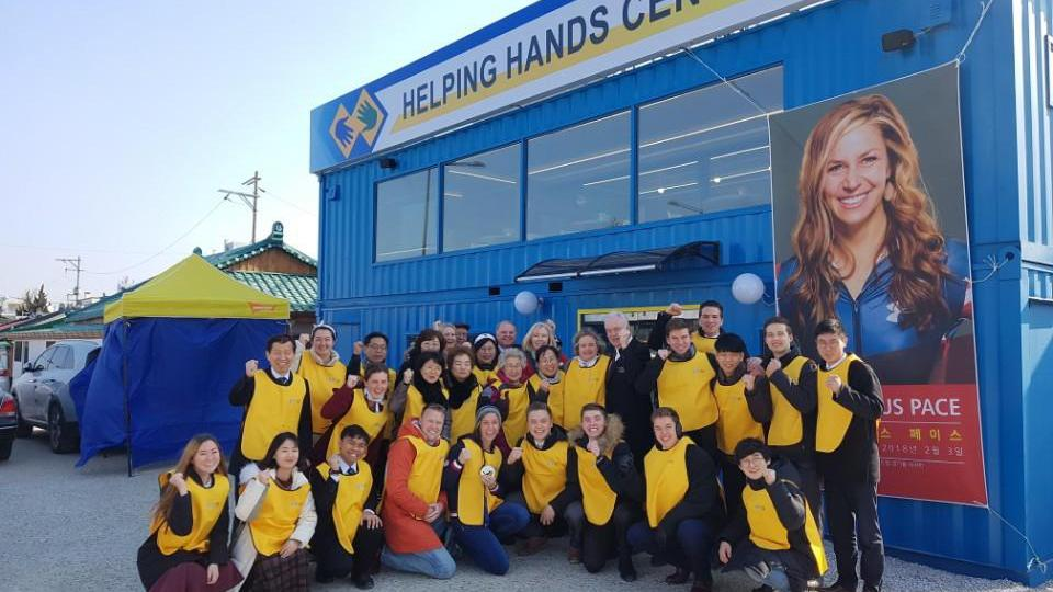 Mormon Helping Hands Serving at Pyeongchang Winter Olympics