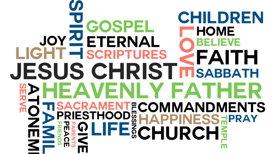 Word Cloud with most mentioned words in October 2015 General Conference